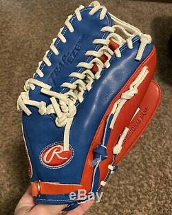 CUSTOM Color Red White Blue Rawlings Heart of the Hide PRO601 12.75 Glove