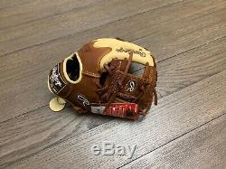 New Rawlings Heart Of The Hide Wingtip 11.5 I-Web Baseball Glove Brown Camel