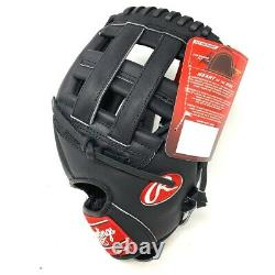 PRO1000HB-21-RightHandThrow Rawlings Heart of the Hide Black Horween PRO1000HC B