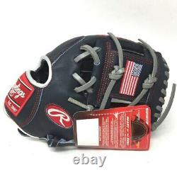 PRO204-2USA-RightHandThrow Rawlings Heart of Hide 11.5 USA Baseball Glove Right