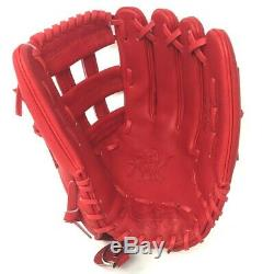 PRO3039-6-RED-RightHandThrow Rawlings Heart of Hide Baseball Glove Red 12.75