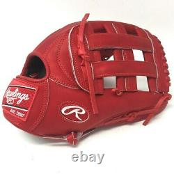 PRO3039-6-RED-RightHandThrow Rawlings Heart of Hide PRO3039 Baseball Glove Red H