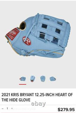 Rawlings 2021 KRIS BRYANT 12.25-INCH HEART OF THE HIDE GLOVE