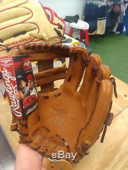 Rawlings Brown Wing Tip Heart of the Hide Baseball Glove pro204-1gbwt 11 1/2 in