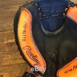 Rawlings Heart Of The Hide Made In USA Pro-kltfb Rht Gold Glove Neon Orange Hoh