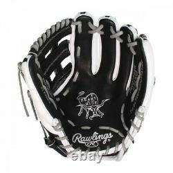 Rawlings Heart of The Hide Pro H-Web baseball glove RHT 11.5 PRO314-6BW black