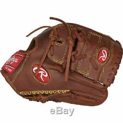 Rawlings Heart of the Hide 11.75 Inch Left Handed Thrower Baseball Mitt, Brown