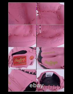 Rawlings Heart of the Hide 34 SMU Pink Catcher's Mitt PROCM43PB