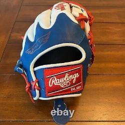 Rawlings Heart of the Hide PRO204W-2DR Dominican Republic Flag 11.5 Glove HOH