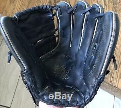 Rawlings PRO1000-9JB HOH Heart of the Hide Pitchers Baseball Glove 12 1/4 Black