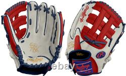 Rawlings PRO204W-6 11.5 Heart of The Hide Patriot Baseball Glove Pro H Web