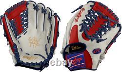 Rawlings PRO204-4 11.5 Heart of The Hide Patriot Baseball Glove Mod TrapEze Web