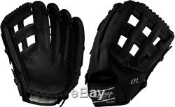 Rawlings PRO30396 12.75 Heart Of The Hide Blackout Baseball Glove Outfield
