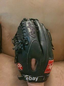 Rawlings PRO601JB Heart Of The hide HOH Black On Black 12.75 Outfield Glove LHT