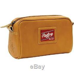 Rawlings Premium Heart of The Hide Leather Single-Zip Travel Kit Tan