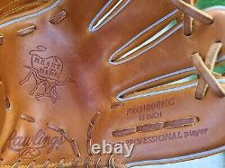 Rawlings Pro1000hc Heart Of The Hide 12inch Rht Baseball Softball Glove Pro Gra